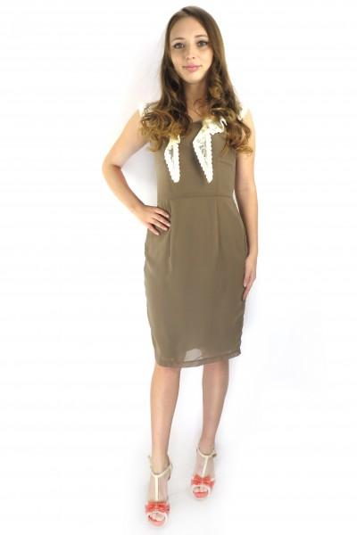 Классическое платье FEVER коричневого цвета