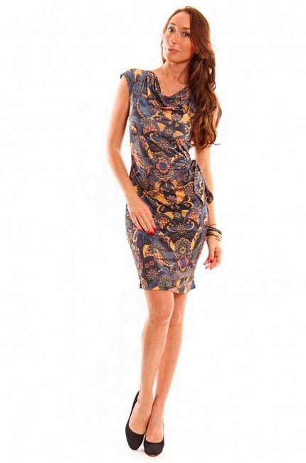 Приталенное платье-футляр RINASCIMENTO с завязкой на поясе