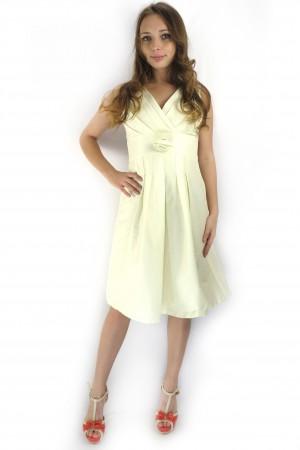 Кремовое платье FEVER с завышенной талией