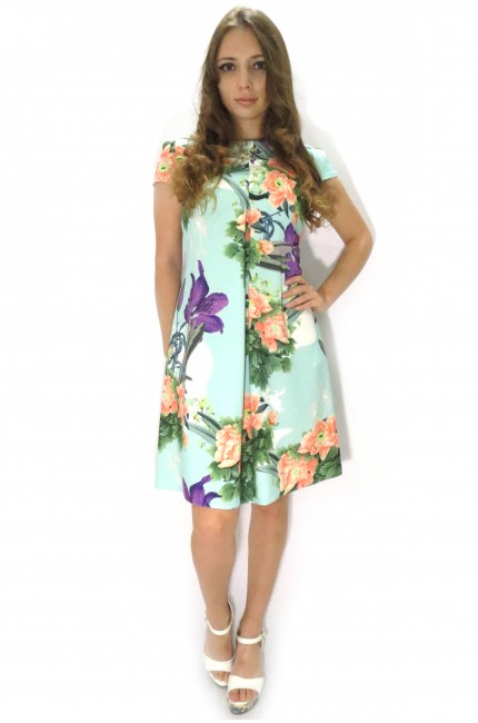 Короткое платье LADYFORM нежно-голубого цвета