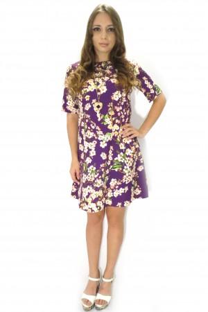 Фиолетовое короткое платье Twilight свободного кроя
