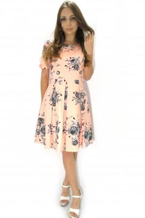Нежно-розовое платье ELISEV в стиле Бэби-долл
