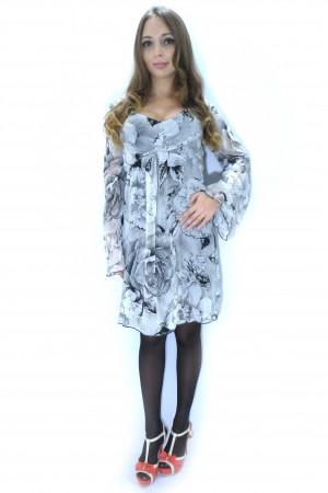 Белое платье RINASCIMENTO с черным узором и цветами