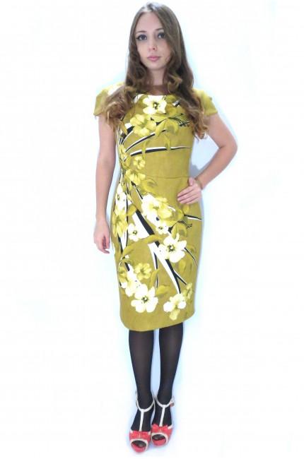 Горчичное платье RINASCIMENTO из акрила