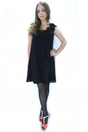 Черное свободное платье SISTERS POINT на бретельках