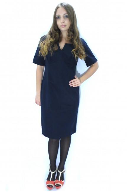 Темно-синее офисное платье Pepperberry футляр