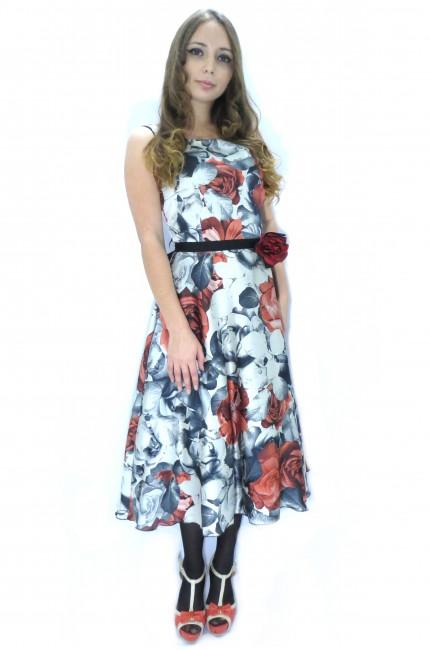 Яркое платье RINASCIMENTO с красными цветами