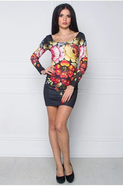 Платье с принтом Декоративная роспись