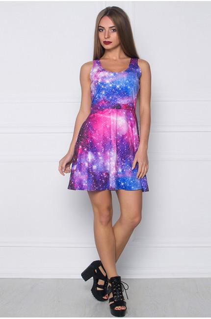 Платье с принтом Космос