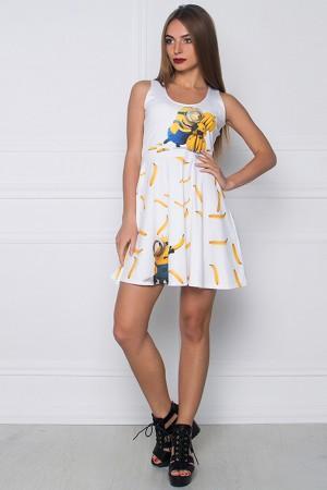 Платье с принтом Миньоны